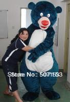 New baloo bear costume adult plush mascot costume elmo dora barney doraemon kitty cartoon character costumes party