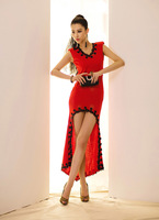 HOT! classical style ~ Korean fashion sexy embroidered dress irregular hem dress skirt dress,free shipping