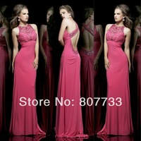 Free Shipping!!! CY1164 New arrival Shealth Beaded Chiffon evening gowns for girls