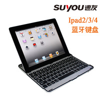 wholesale bulk 100pcs aluminum ultra  bluetooth keyboard case  wireless keyboard  for ipad 2 3 4