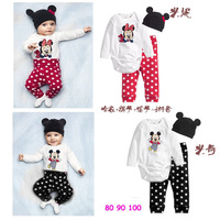 PPY-39 Free shipping 2014 new arrival baby romper 3 pcs infant Mickey rompers fashion boy girls jumpsuit wholesale and retail