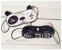 Cat plush cartoon hot dark circles eye bags multi-purpose eyeshade