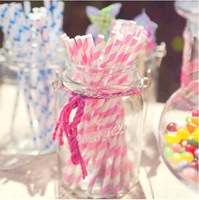 Free Shipping Wholesale 200pcs/Lot Chevron Striped And Polka Dot Drinking Paper Straws For Wedding Birthday Party  Decoration