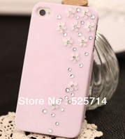Fashion Five fresh flowers Phone Protective Case Cover for iphone i4 4s free shipping wholesale # 190780