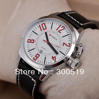 JW409 Fashion Vogue Men Quartz Watches Round Big Dial Man Wristwatches Japan Movement Clock With Calendar