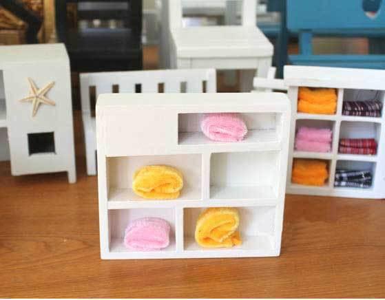 mdf artesanato free shipping zakka mini furniture photo shooting props little cupboard containing flannelette five cabinet 1pc(China (Mainland))