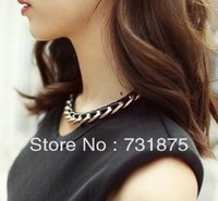 Popular fashion accessories black leather cord collar Women personalized accessories