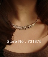 Fashion necklace star twist sparkling diamond formal dress colnmnaris alloy chain pendant