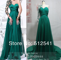 Beautiful One shoulder Chiffon Formal Evening Dresses Sheath Sweetheart Beading Actual Images yk8R182