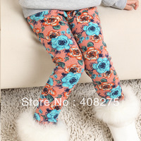 Retail Hottest Autumn Winter Girls' leggings Kids legging Children pants Cotton tights for girls Girl winter leggings pants warm