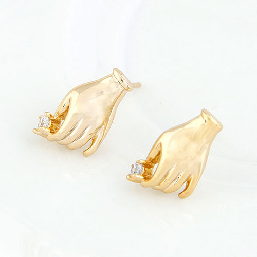 Valentine's Day Wholesale 6pairs Fashion Retro Classic Sweet palm zircon earrings(China (Mainland))
