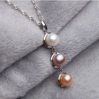 New Design Mix Color Natural Pearls Pendants Fashion Freshwater Pearl Pendant Jewelry 925 Sterling Silver Pendants Elisa Pearl