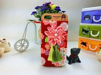 1 pcs New Arrival Lovely Fabrics Rural Style / Pastoral  Style Flowers Case For iPhone 4 4s 5 ! Free Shipping