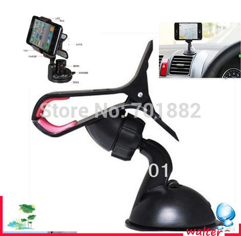 Phone Holders Degree Rotating Car Sucker Mount Bracket Holder Stand Universal for Phone GPS Tablet PC Accessories(China (Mainland))