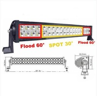 Free DHL SHIPPING!!120w Spot Flood Combo LED Work LIGHT BAR 4WD Boat Mine Truck driving lamp 10-30V