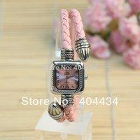 50pcs/lot vintage leather bracelet watch snake design women casual wristwatch quartz watch