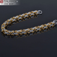 5.0mm width 316L stainless steel men bracelet, fashion stering steel hand chain, high quality link bangle free shipping B131210