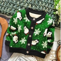 6 pcs/lot Factory Sale Children Kids Sweater Cardigans Girls Boys Cartoon Winter Autumn Wear Knitted Jacket NEW ww203