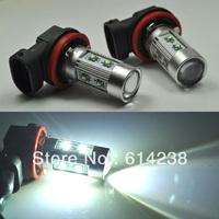 2pcs CREE& Osram 50W H8 H9 H10 H11 H16, 9005 9006 PY24W  P13W socket LED Fog Light 12V 24V car DRL light lamp bulb car lighting