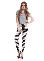 Black & White Zebra Legging Stripes High Elastic Comfortable Milk Fabric Pants Free shipping #BS010
