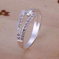 Low Price! Wholesale 925 Silver Plated Inlaid Stone Ring , Fashion Jewelry Classic Free shipping R128