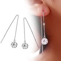 Fashion JF brand earrings drop earring accessories 925 pure silver platier anti-allergic all-match tassel female