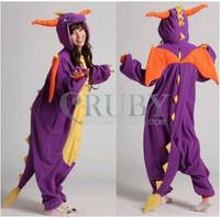 Spyro Purple Dragon Cartoon Animal Onesies Onesie Adult Unisex Fashion Cosplay Costumes Women Pyjamas Pajamas