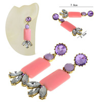 2013 new Wholesales Fashion Jewelry brand long Crystal Water Drop Earrings for women
