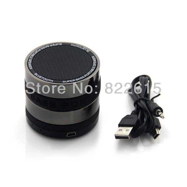 Mini Portable Bluetooth Handsfree Wireless Super Bass Speaker Camera Lens Design For Apple iPhone Samsung Computer(China (Mainland))