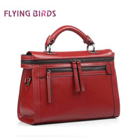 FLYING BIRDS! FREE SHIPPING 2014 Retro messenger bag portable shoulder diagonal cowhide leather handbags LS1169