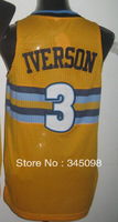 Cheap,Free Shipping,#3 iverson Men's 2013-14 new Basketball Jerseys Sale,Embroidery logos Size