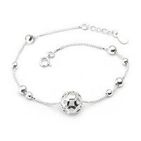 Fashion JF brand 925 pure silver bracelet single ball lovers bracelet fashion silver jewelry gift women's