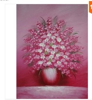 hand painted modern Wall home decor Canvas oil painting Thick oil Flower oil paintings 1pcs a468