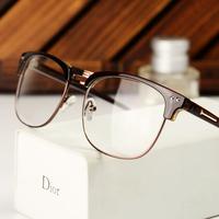 Metal box popular vintage Men glasses fashion big frame eyeglasses women's glasses myopia