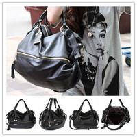 100% Genuine Leather Shoulder Bag cross-body OL casual tassels Women Leather Handbag Tag  Cowhide Tote bag Women messenger bag