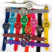 2013  Popular 12 colours Silicone Quartz gold Men/Women/Girl Unisex Jelly Wrist Watch accept Drop Shipping  army sport watch