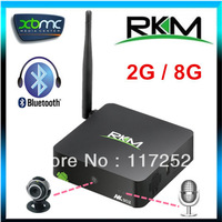 Rikomagic MK902 Quad Core Android TV Box RK3188 2GB DDR3 8GB Bluetooth Build in Camera tv and Microphone mini pc RJ45 AV XBMC