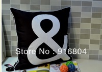 Free Shipping !!! Magic Number Symbols Square Pattern One Side Printing Covered Edge Cushion Cover 45cm *45cm Size