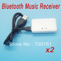 2pcs/lot 3.5mm A2DP Stereo Audio Music Wireless Bluetooth Music Receiver for iPod iPhone 5 5S iPad 4 MP3 MP4 PC free shipping