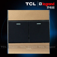 Tcl switch socket panel 86 a8 series neon gold