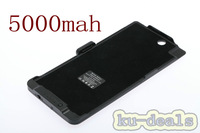 High capacity 5000mAh External Battery Power Bank Case with stand for Sony Xperia Z Ultra C6806 C6802 XL39h