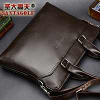 2013 cowhide man bag commercial male shoulder bag messenger bag handbag bag lather-bag