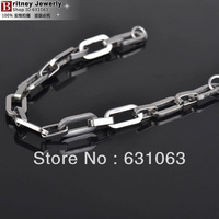 9.0mm width 316L stainless steel bracelet, stering steel hand chain, high quality link men bangle free shipping B131217