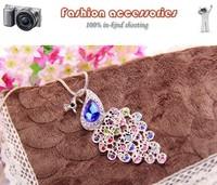2014 new Arrive Korean fashion star  beautiful  fashion peacocks sweater chain necklace A517