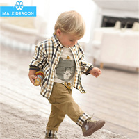 Hotsale high quality baby boy girl  3PCS clothes set suit T shirt pants  3 PCS clothes set