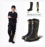 Winter Men rain boots thermal liner plush slip-resistant wear-resistant rainboots rain boots water shoes fishing shoes
