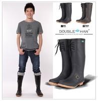 Cow muscle men's high wear-resistant slip-resistant outsole boots rainboots water shoes rain shoes rubber shoes
