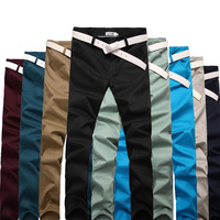 2013 men's clothing solid color casual pants slim trousers skinny pants casual all-match trousers 8952
