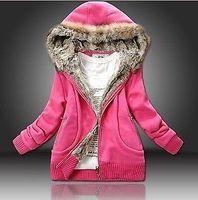 New Womens Trendy Thicken Hoodie Casual Zipper Coat Outerwear Winter Jacket Tops