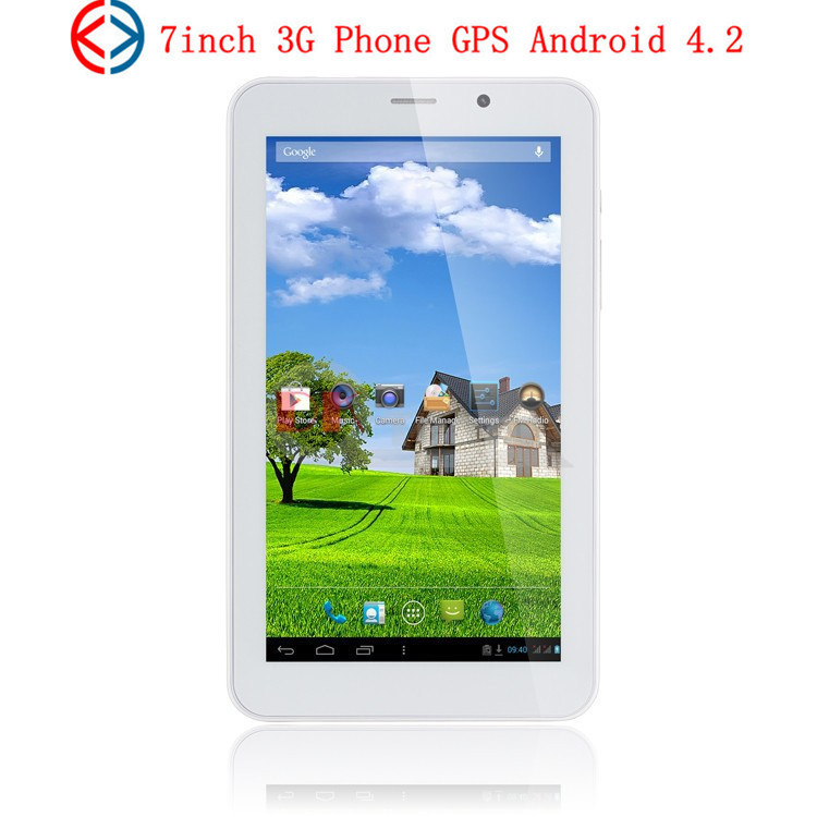 Cheap tablet 3G Phone Call Tablet PC 7inch Dual Core Dual sim card slot MTK8312 GPS android 4.2 bluetooth(China (Mainland))